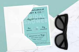 Bridal Shower Breakfast Invitation