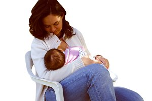 Girl breastfeeding