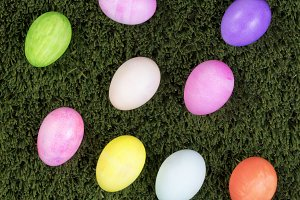 Colorful Easter Eggs for the holiday