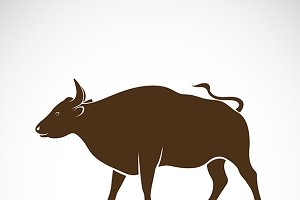 Vector of a bull. Wild Animals