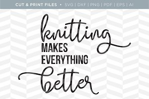 Knitting SVG Cut/Print Files