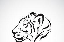 Vector of a tiger head.