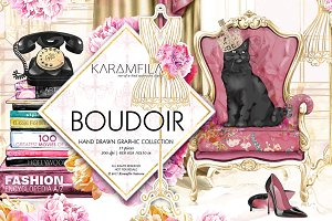 Boudoir Clip Art Vintage Fashion