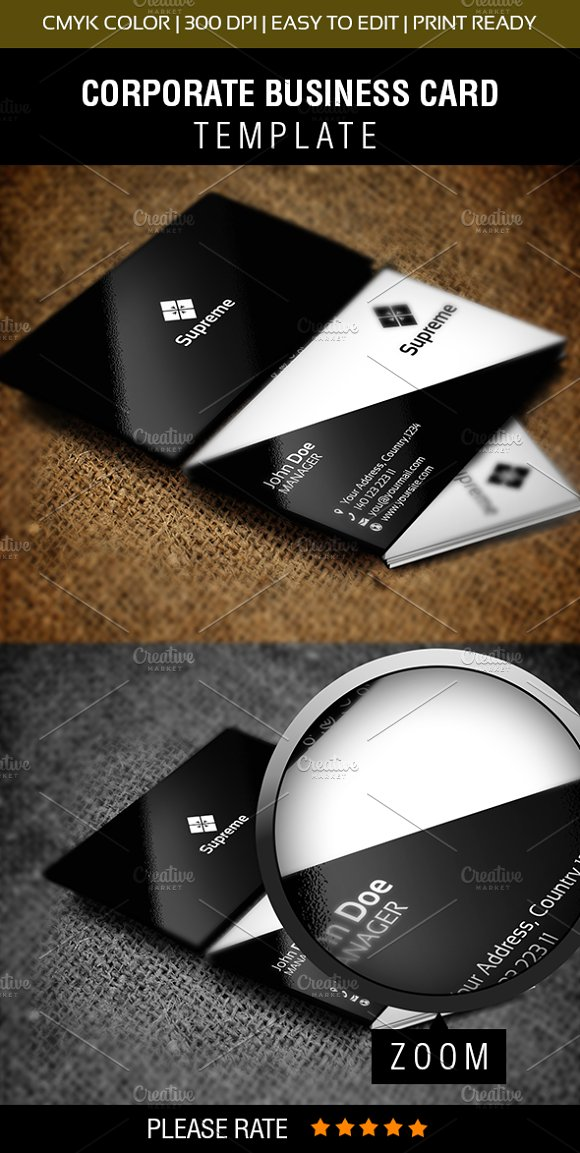 Supreme Business Card ~ Business Card Templates ~ Creative Market