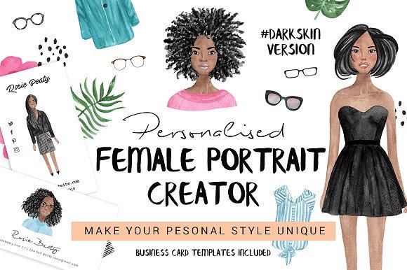Personalised Female Portrait Creator