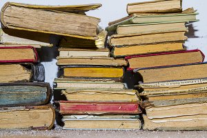 Old and dusty books