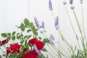Summer flowers composition.