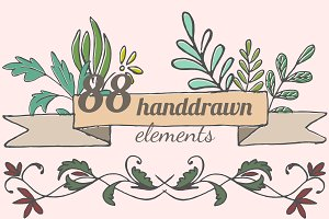 88 flourish designer elements