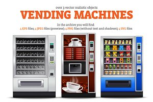 Vending Machines Realistic Set