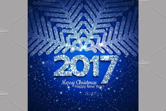 Vector Abstract Christmas Snowflake