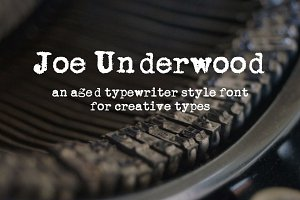 Joe Underwood Typewriter Font