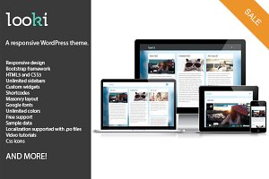 Looki, responsive WordPress theme