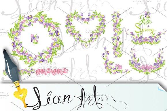 Border Frame Vignette With Flowers