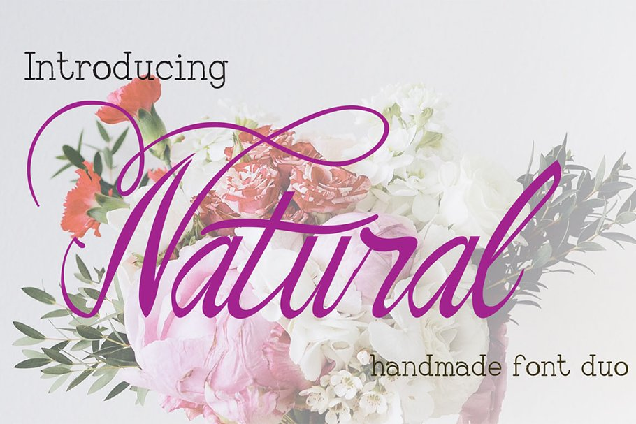 The Natural Old Font Duo ~ Script Fonts ~ Creative Market