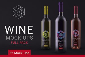 Wine Mock up Full Pack