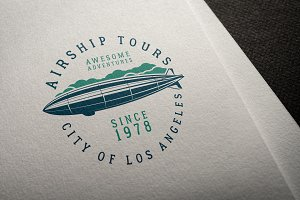 Airship Tours Logo Template
