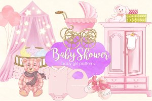 Baby Shower Baby Girl Patterns