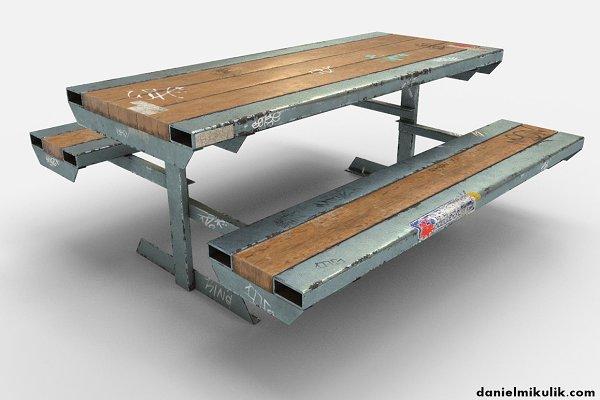 3D Urban: Daniel Mikulik - Skate Park Bench PBR Textures