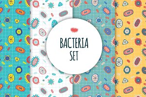 Bacteria seamless patterns