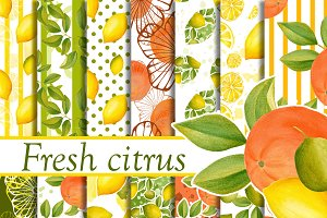Citrus digital patterns