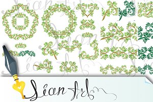 Floral seamless detailed ornaments