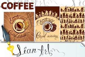 Menu elements for coffeehouse