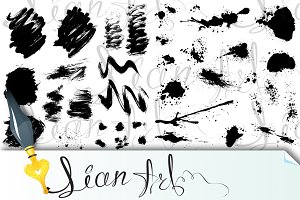Black blots and ink splashes, #2