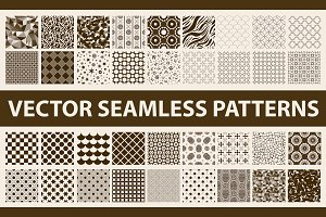 Retro vector seamless patterns pack
