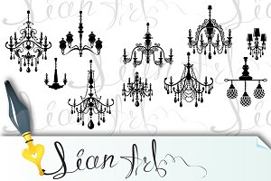 luxury vintage crystal chandelier