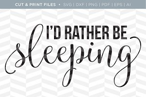 Sleeping SVG Cut/Print Files