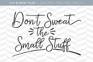 Small Stuff SVG Cut/Print Files