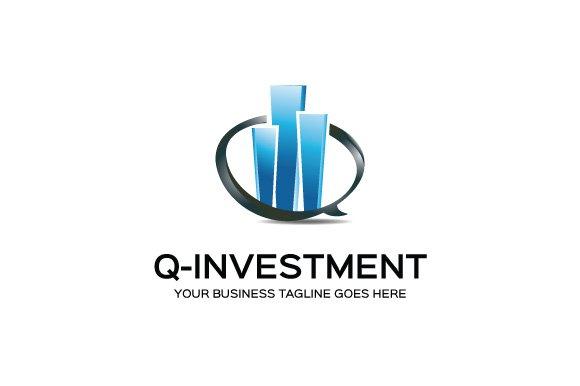 q investment logo template logo templates creative market