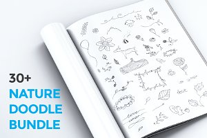 30+ Nature Doodles Bundle