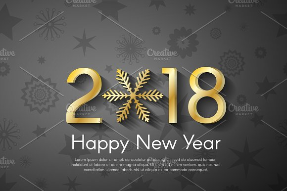 Vector New Year 2018 Concept