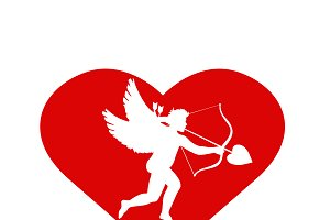 heart with cupid inside.
