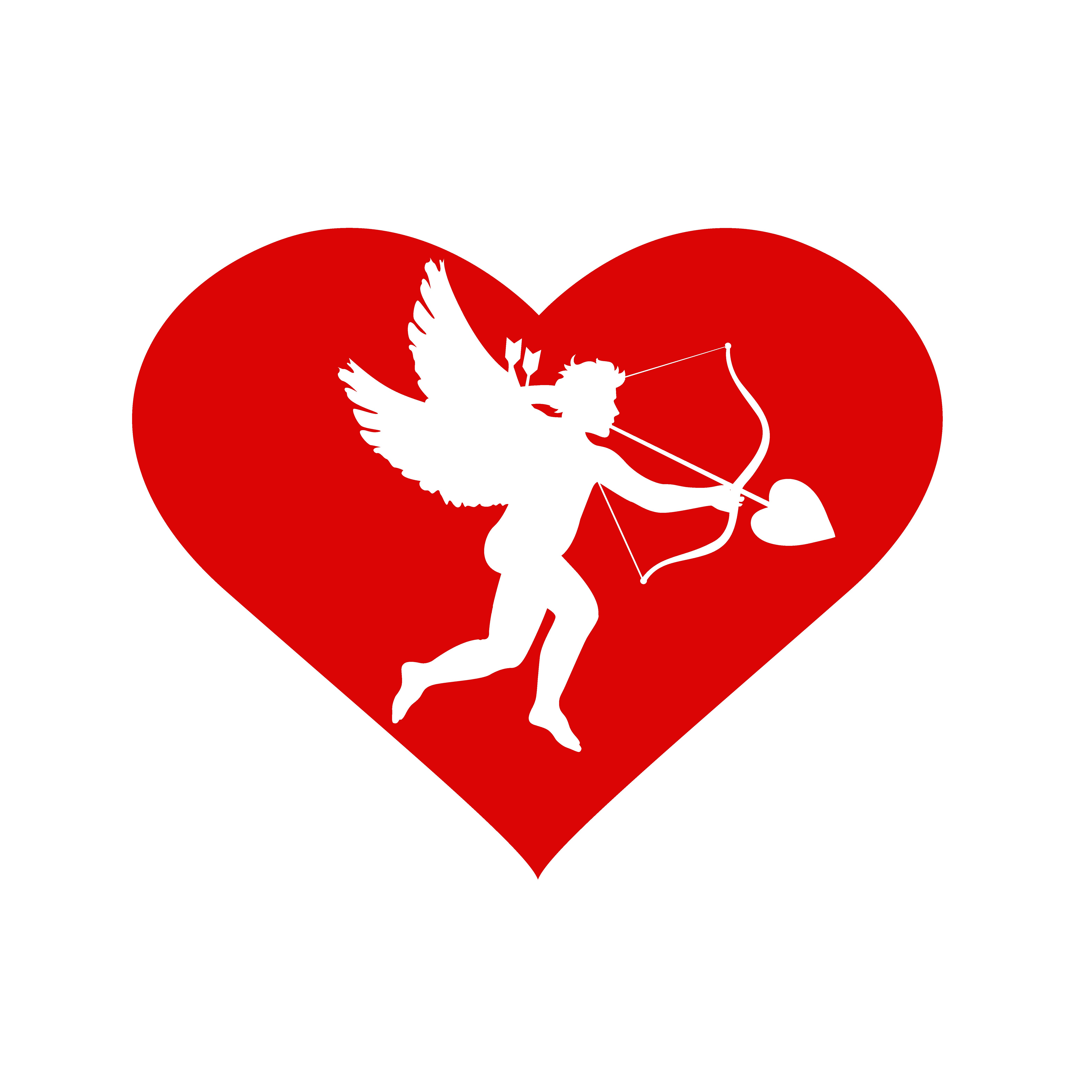 heart with cupid inside. ~ Illustrations ~ Creative Market