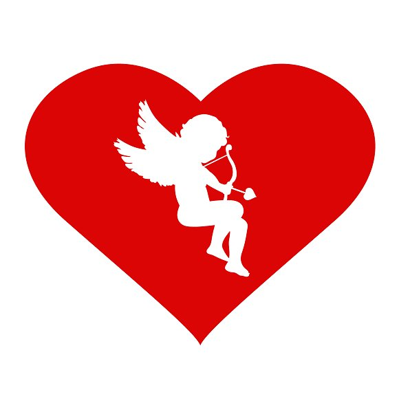 Valentine's Day Cupid And Heart