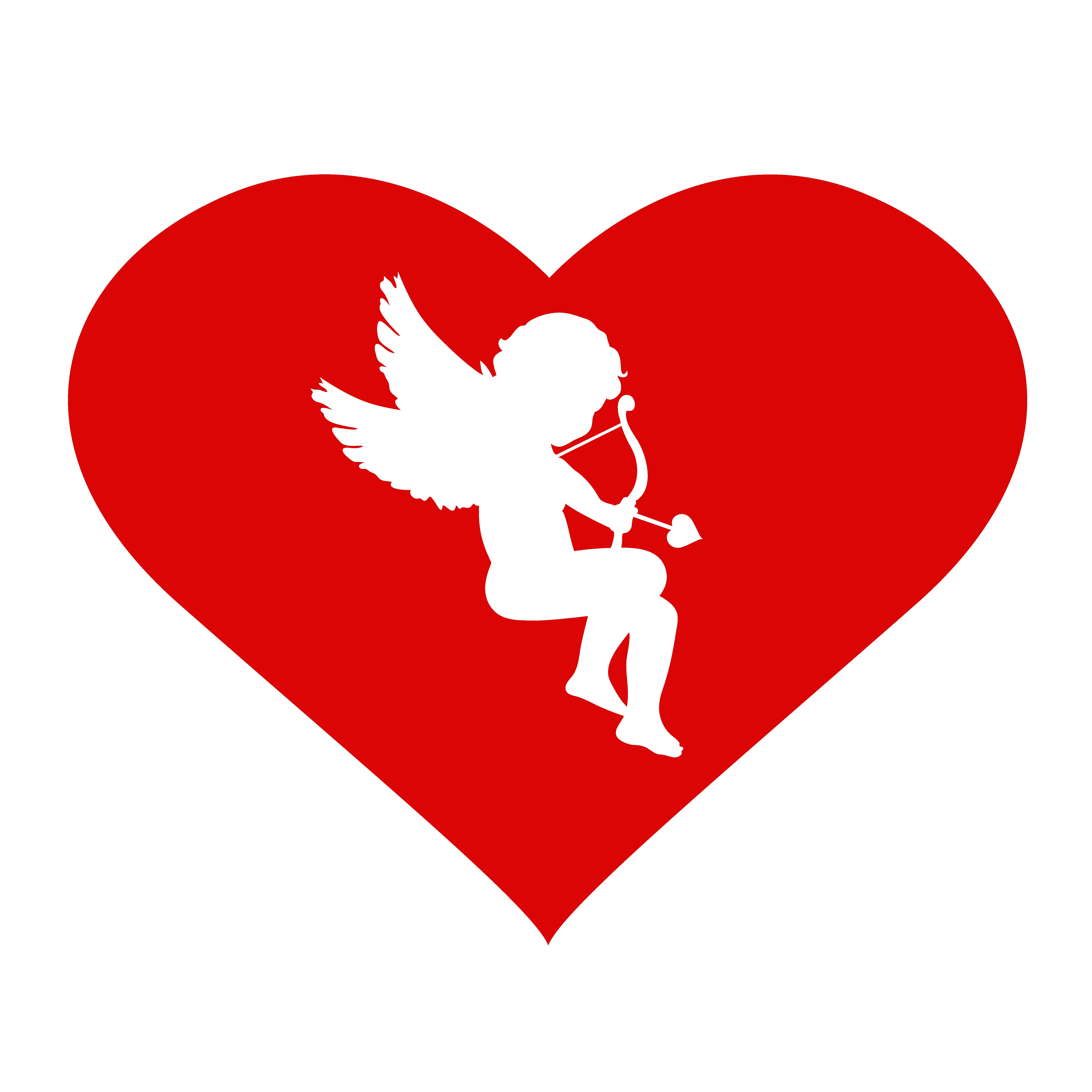 Valentine's Day. Cupid and heart ~ Illustrations ...