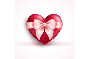 Heart with bow