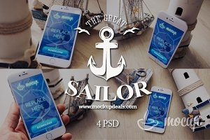 iPhone 6 PSD Mockups set Sailor
