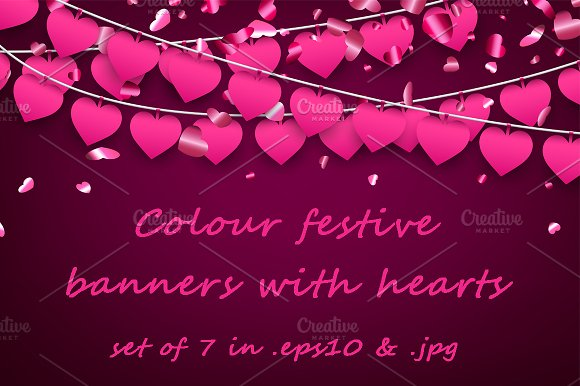 Valentine's Backgrounds Banners