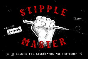 Stipple Master AI & PS Brushes