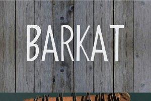 Barkat Calligraphy Font