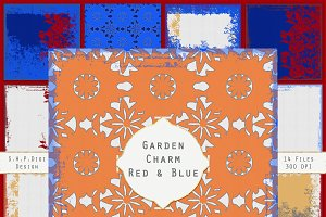 Garden Papers Red & Blue