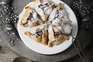 Symbols of Purim - Jewish Pasry Hamantaschen