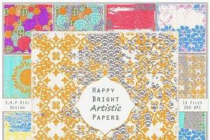 Happy Bright Scrappy Art Papers