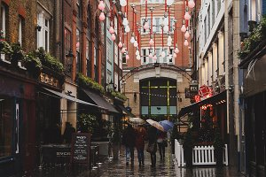 Rainy day London