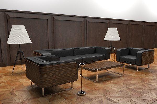 3D Furniture Models: inDahouze - Cootz furniture set