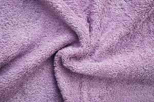 Purple bath fluffy towel