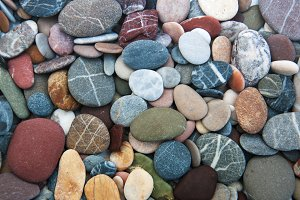 Background of sea pebbles